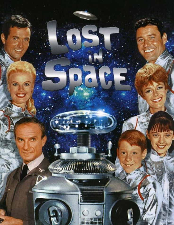 """Lost in Space ( the cowardly guy at the bottom left was the star ) well him a the Robot ( Robby ) The young boy was told by Robby """" Danger ... Will Robinson """" But the Robinson family were no help !!"""