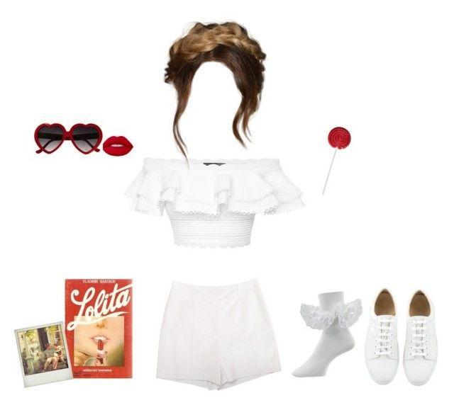 Lolita in white by rabbitcult on Polyvore featuring polyvore, mode, style, Alexander McQueen, Diane Von Furstenberg, fashion, clothing, lolita, nymphet and nymphetfashion