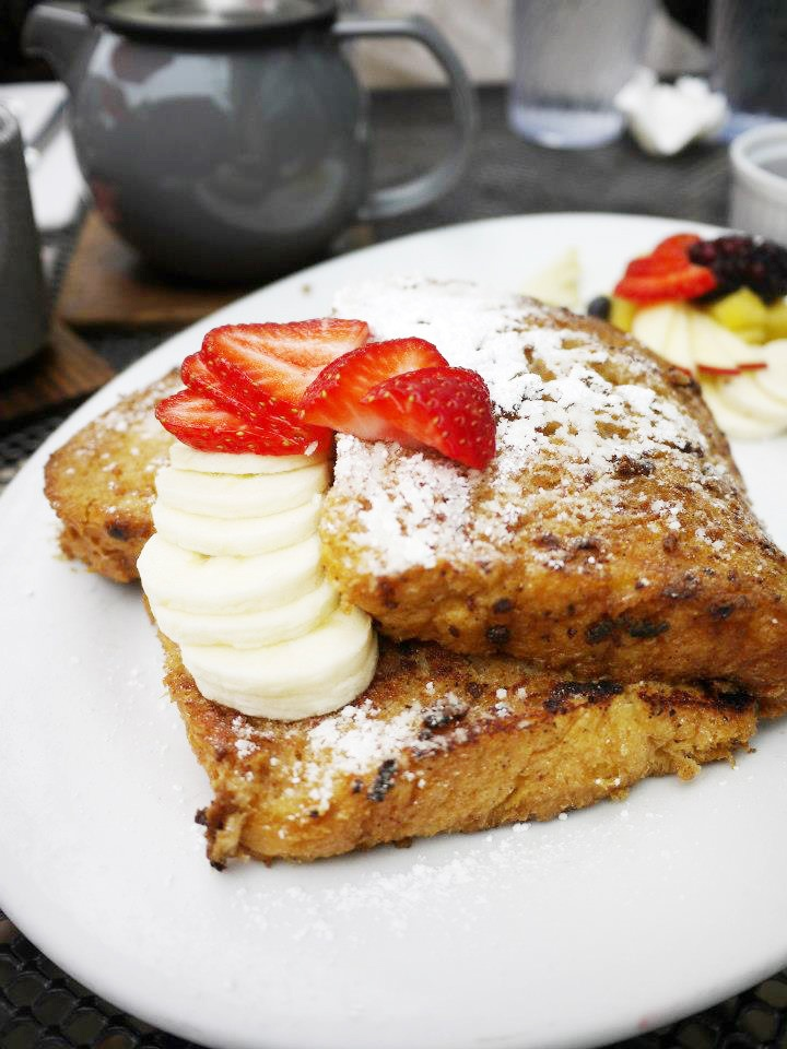 Best Brunches in North Austin: Chai Spiced French Toast, brunch, The Steeping Room, Austin  Another location at: 4400 North Lamar Blvd