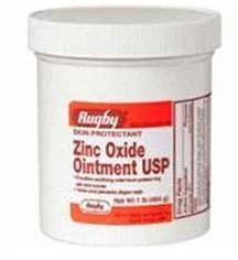 ZINC OXIDE OINTMENT ***RUG Size: 1 LB by RUGBY LABORATORIES. $11.99. Zinc Oxide Ointment by Rugby Helps treat and prevent diaper rash.. It helps treat and prevent diaper rash.. Zinc Oxide Ointment dries the oozing and weeping of poison ivy, poison oak, and poison sumac.. Zinc Oxide Ointment by Rugby is Protects chafed skin associated with diaper rash and helps protect from wetness.. ZINC OXIDE OINTMENT ***RUG Size: 1 LB