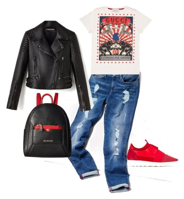 """""""Untitled #6"""" by beebeechic on Polyvore featuring Tommy Hilfiger, Gucci, Love Moschino and Balenciaga"""