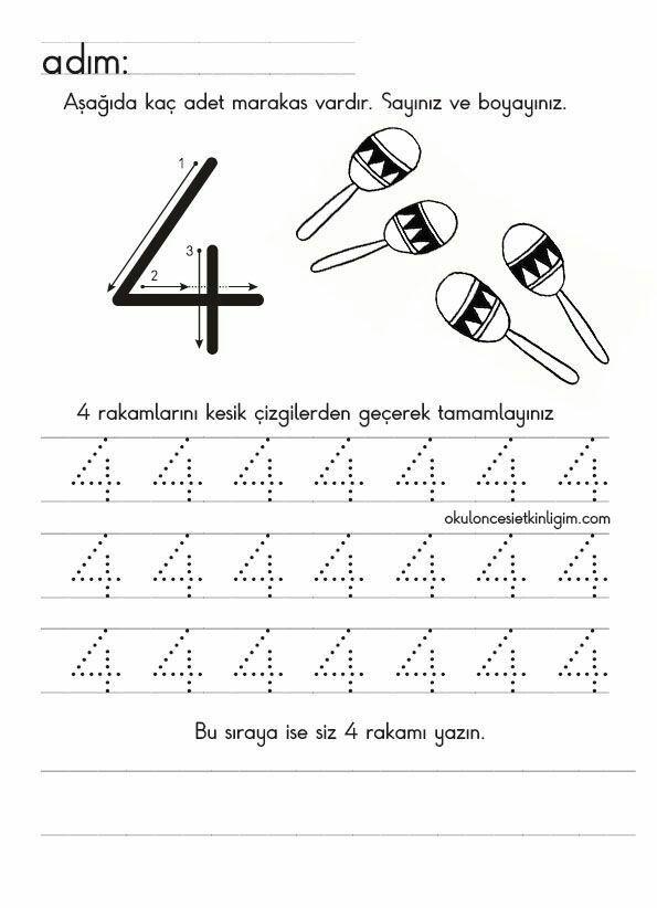 Pin De Dilek Ozdogan Em 4 Sayisi Atividades Para Criancas De 2