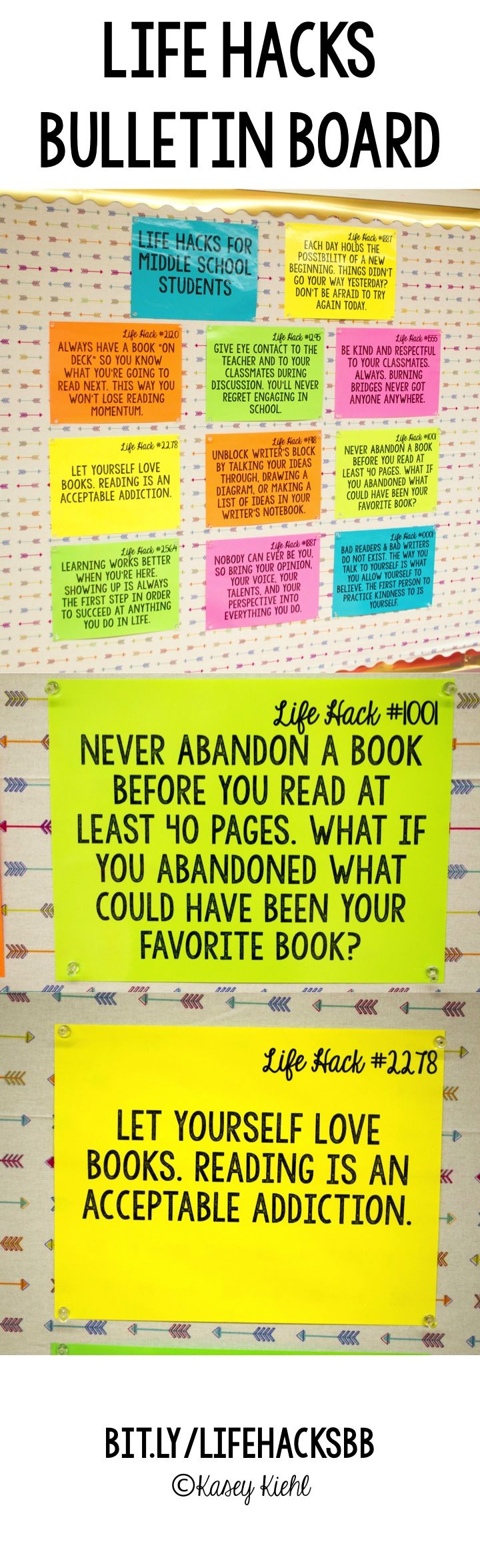 Poster design ideas for school - Life Hacks Posters Bulletin Board