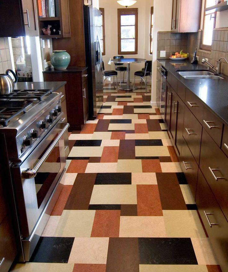 17 best images about plaid floors on pinterest garage for Cool linoleum flooring