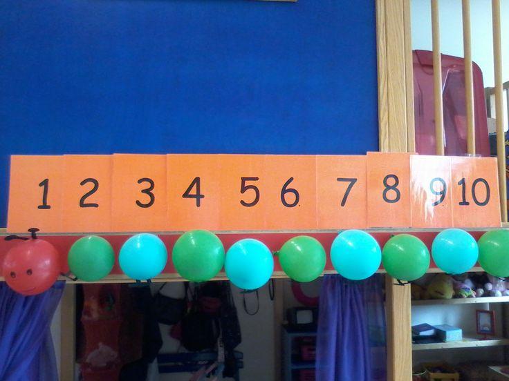 Ballonnenrups, groep 1/2. in dit geval gebruikt voor het thema 'feest', maar kan natuurlijk ook bij andere thema's worden ingezet. Ook makkelijk bruikbaar om mee te tellen, bijvoorbeeld als kringactiviteit.