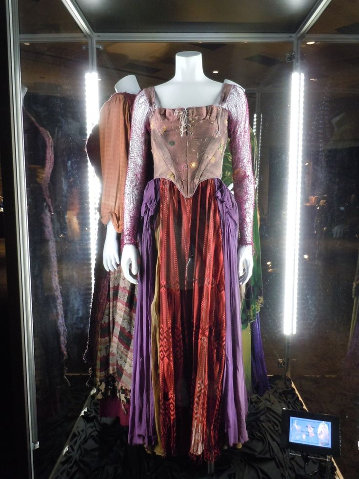 Hollywood Movie Costumes and Props: Hocus Pocus movie costumes and props on display... Original film costumes and props on display