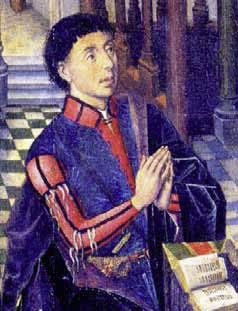 1455 Donor Portrait of Don Inigo de Mendoza by Jorge Ingles, Duque de Infantado Collection, Madrid