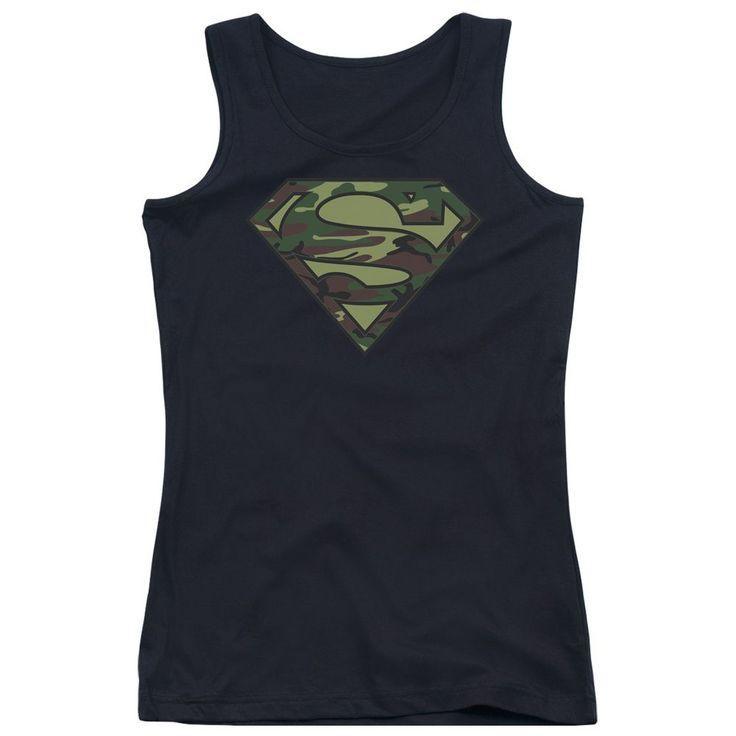 Superman - Camo Logo Junior Tank Top
