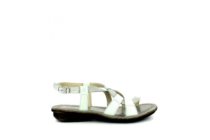 Mounty Ice   Flat sandal in real leather vintage look. Adjustable strap, rubber sole 2,5 cm high
