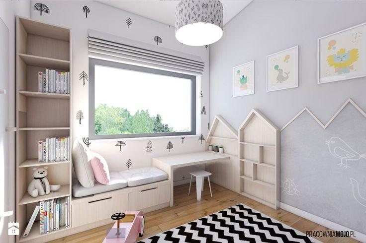 Wnętrza domu w Łodygowicach - Pokój dziecka, styl skandynawski - zdjęcie od MOJO pracownia projektowa