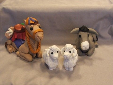 Polymer Clay Nativity Animals | Flickr - Photo Sharing!