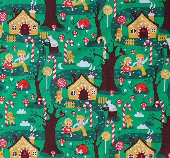 1.1 YARD (1 meter) Organic jersey fabric Hansel and Gretel by bora via Etsy