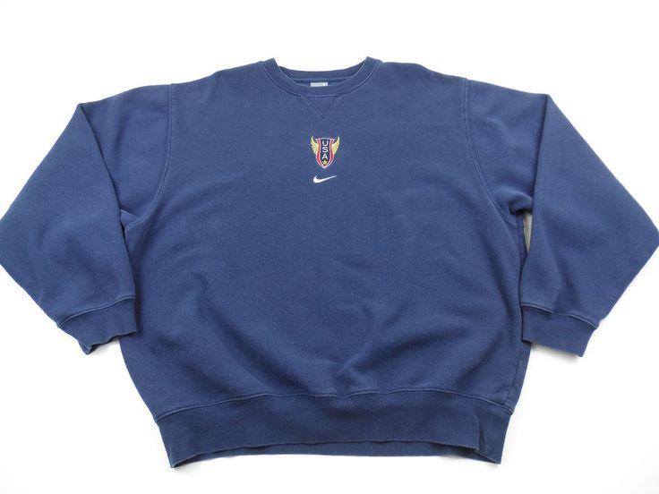 Nike Team USA Track & Field Crewneck Sweatshirt Size Large L USATF Embroidered  #Nike #SweatshirtCrew