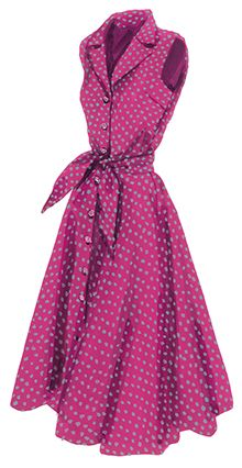 J. Peterman Sleeveless Flirty 1947 Dress. The most flattering dress of the 20th century.