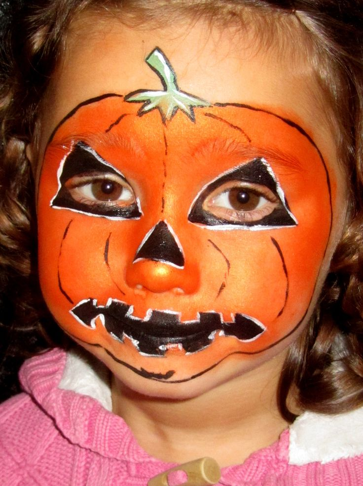 Halloween Pumpkin Face Painting Idea Images