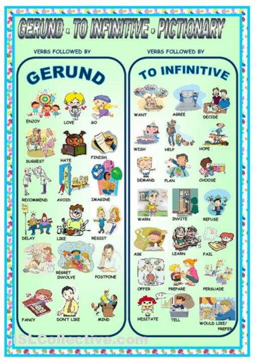 A gerund is a verb + 'ing' = watching An infinitive is 'to' + verb = to watch You cannot use both in a sentence, choose one.  For example: I like to swimming.  (INCORRECT).  I like to swim.  OR I like swimming.