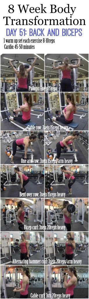 The secret to building sexier biceps for women and men 8 Week Body Transformation: Day 51 BACK and BICEPS