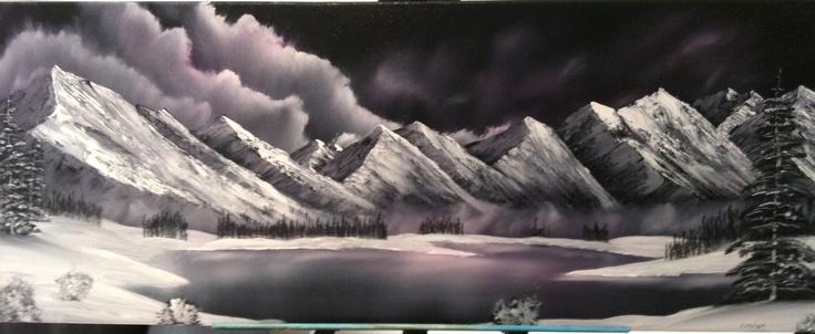 Oil on Black Gesso Canvas | Paintings | Pinterest ...