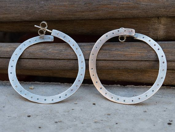 Hoop earrings-Sterling silver hoops-Hoop earrings sterling