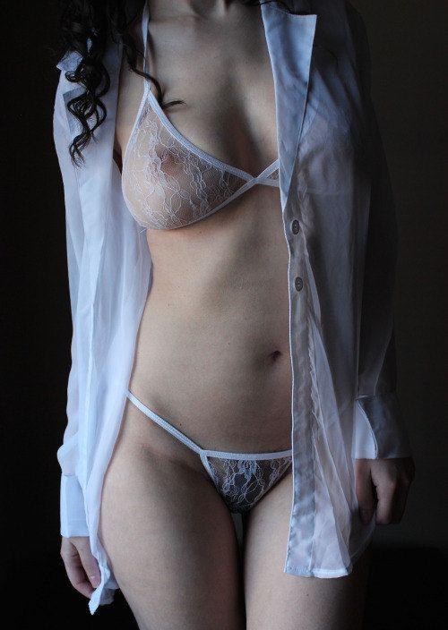 Sistema Bralette y tanga, ropa interior hecho a orden Sexy pura Europea hecha ropa interior regalo - Bralets-ropa interior elegante y erótico
