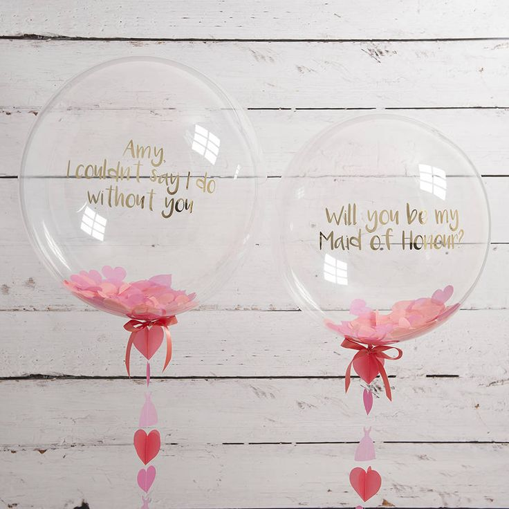 'Will You Be My Maid Of Honour?' Balloon