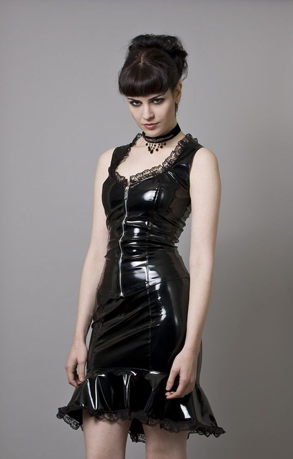 Black PVC BustierMade to Order by decadentdesignz on Etsy, $95.00