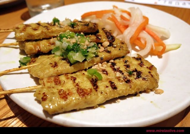 Grilled Chicken Skewers in Republic (Union Square)