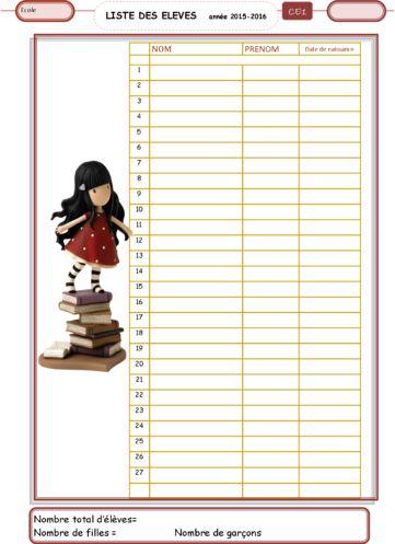 Les documents pour la classe suivie annuel info en cas de remplacement