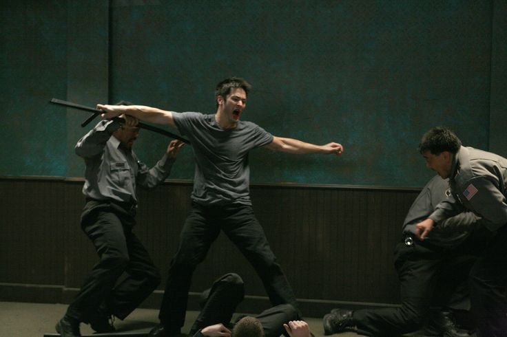Jake (Jason Yee) is out to get Sandy's killer with fight scenes reminiscent of OLDBOY