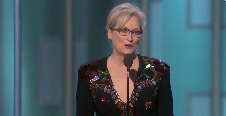 Meryl Streep's Powerful Golden Globes Speech 2017 accepting the Cecil B. DeMille Award for Lifetime Achievement - HarpersBAZAAR.com