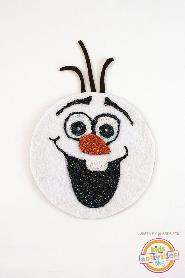 Recycled CD Olaf Craft - Frozen