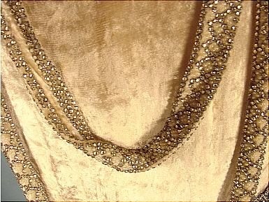 ... Flapper Party Dress Trimmed in Rhinestones and Faux Pearls. Detail