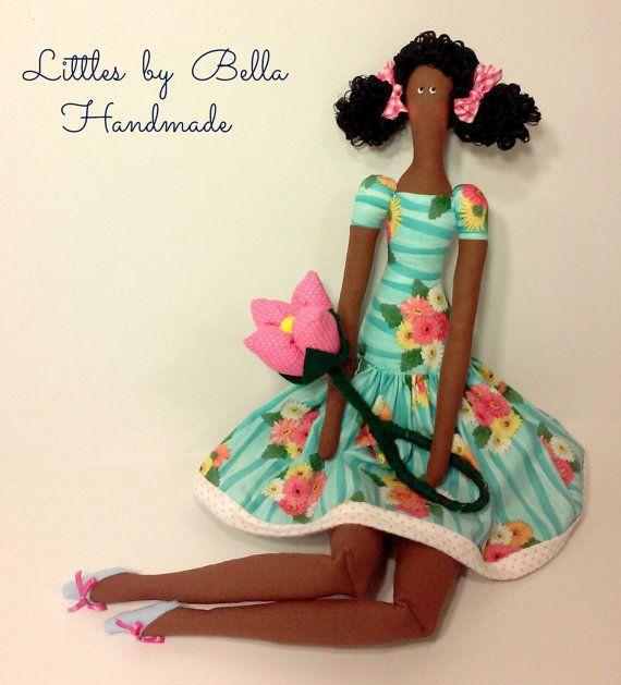 African doll rag doll cloth doll african dolls by littlesbyBella