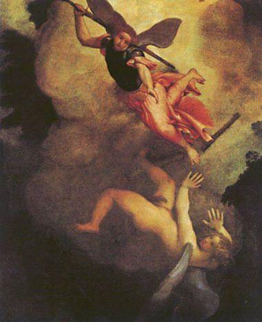 Lorenzo Lotto, San Michelle Arcangelo caccia Lucifero, 1545, Loreto, Museo della Santa Casa