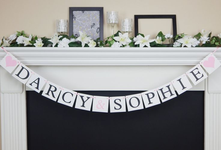 its twins baby name banner by CelebratingTogether on Etsy