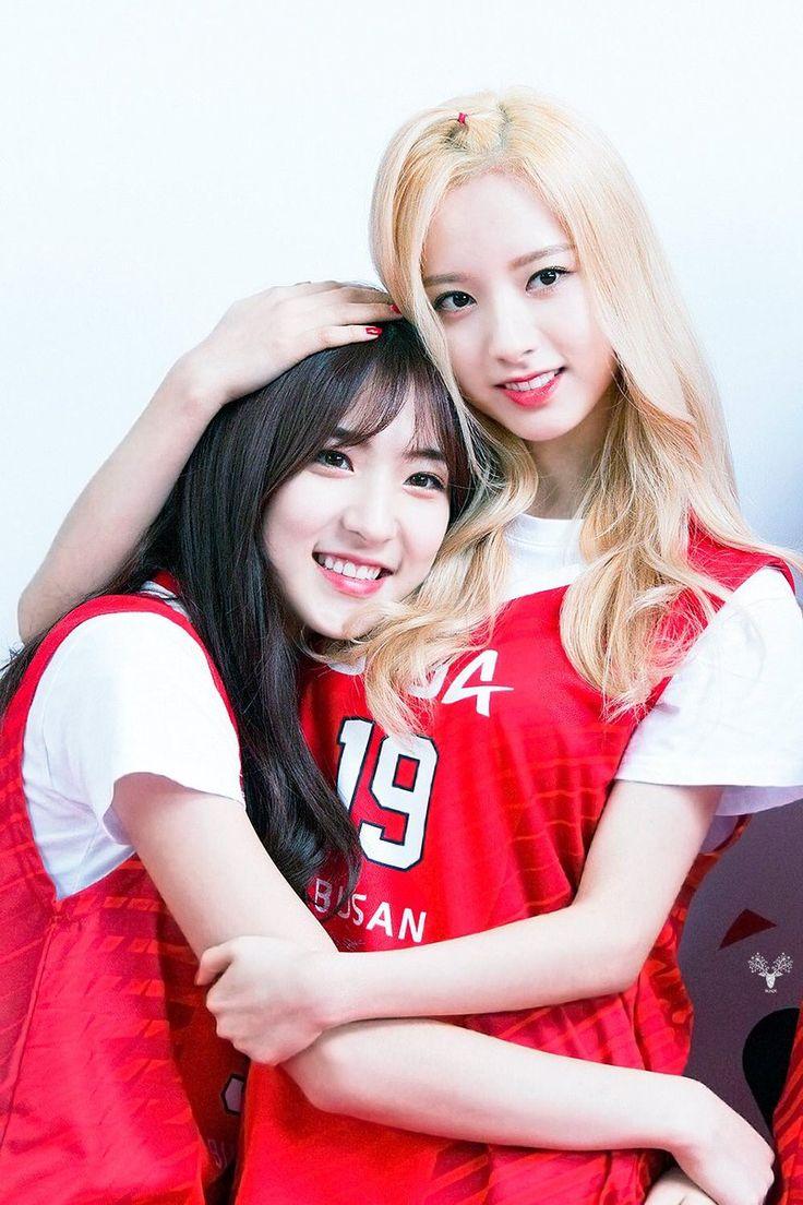 WJSN ♡ Eunseo 은서 (Son Juyeon 손주연) & Bona 보나 (Kim Jiyeon 김지연) at Busan KT Sonicboom Basketball game 161029 #2연 #2YEON #우주소녀 부산 KT소닉붐
