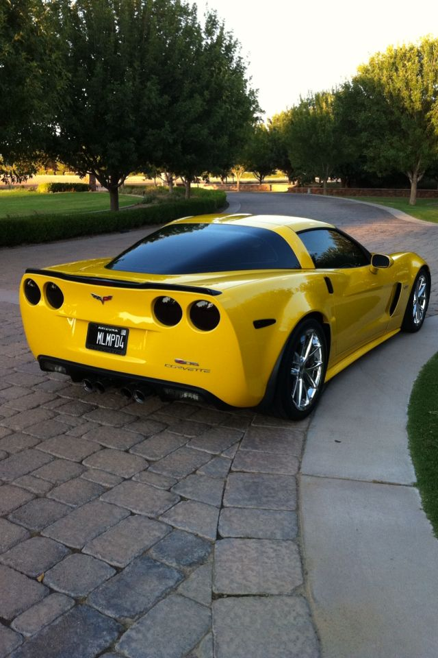 Yellow corvette Z06 2009 My dream car that I worked hard for but had to trade it in for a 2016 8 speed automatic because I lost my left leg.