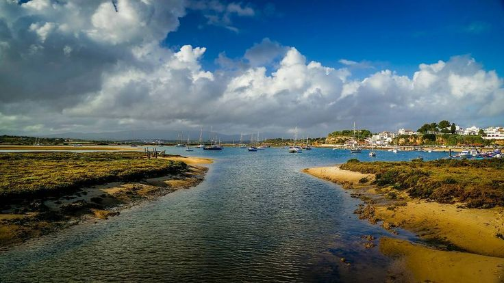 Alvor Algarve - Portugal.  #water #sky #nature #travel #traveling #visiting #instatravel #instago #outdoors #landscape #seashore #beach #sea #panoramic #summer #cloud #tree #river #daylight #lake #tourism #fernandocleal