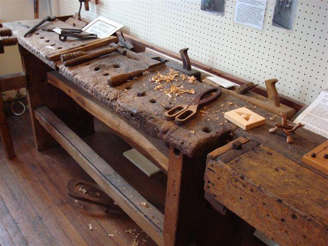 An Old Carpenter S Workbench Historic Hermann Inc German School