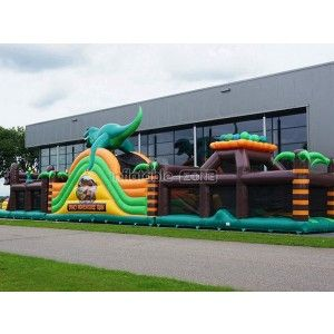 Supply green dinosaurs bouncy water slides,outdoor water inflatable slides for kids