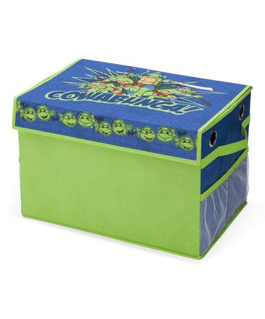 Look at this #zulilyfind! Teenage Mutant Ninja Turtles Toy Box With Pockets #zulilyfinds