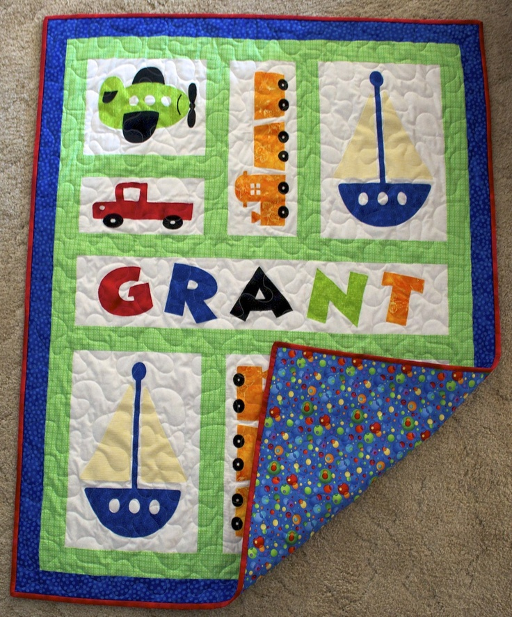 Baby boy quilt, maybe with motorcycles