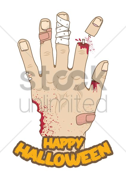 hand reaching out from the ground Stock Vector