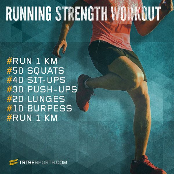 Running Strength Workout - I will change KM to miles and do a mile to begin, then use the rest as a circuit with a quarter mile at the end. I would do 4 circuits.