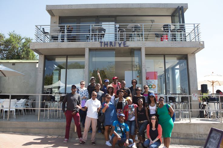 Some of the tour participants outside Thrive Café in #Soweto