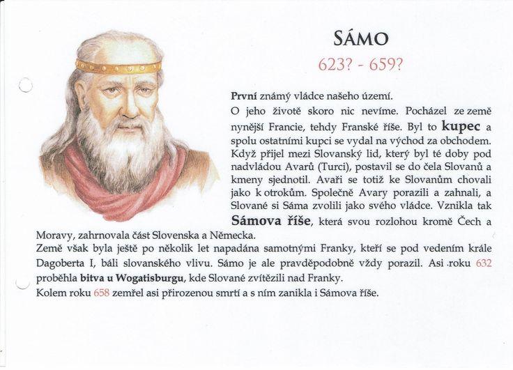 Sámo a Sámova říše (Kartičky o Historii - Doporučuji zafoliovat a pak chronologicky ukládat do pořadače)