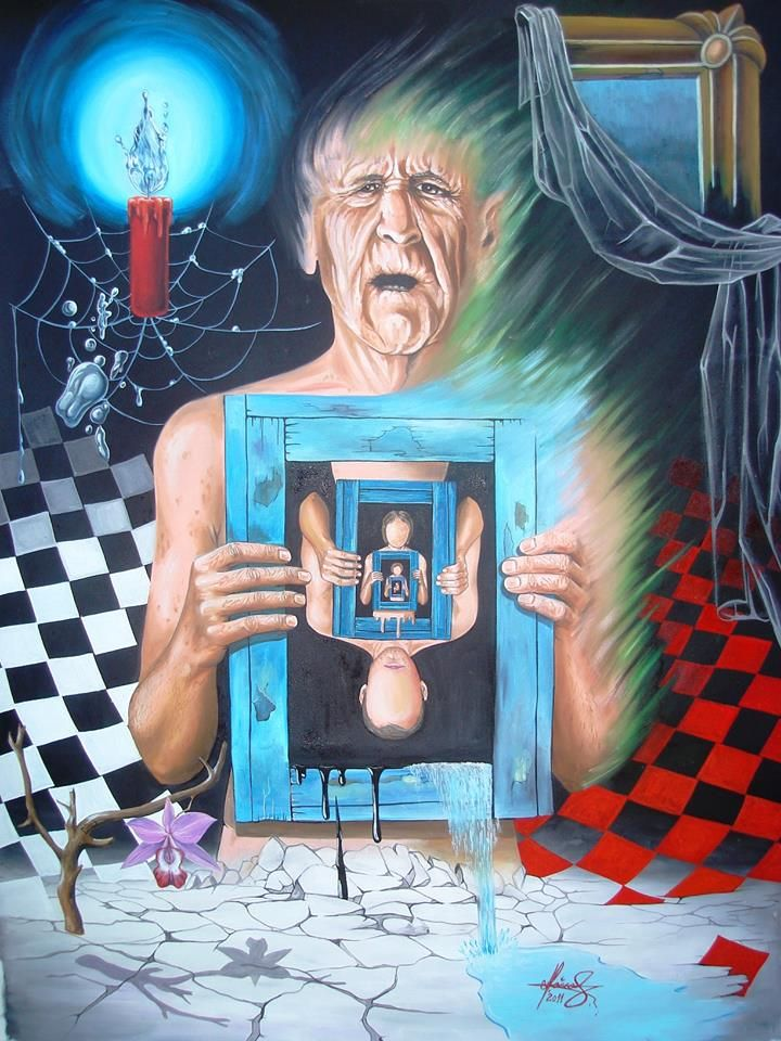 """The Memories Remains"" -Oil on canvas. #art #painter #painture #surrealism"