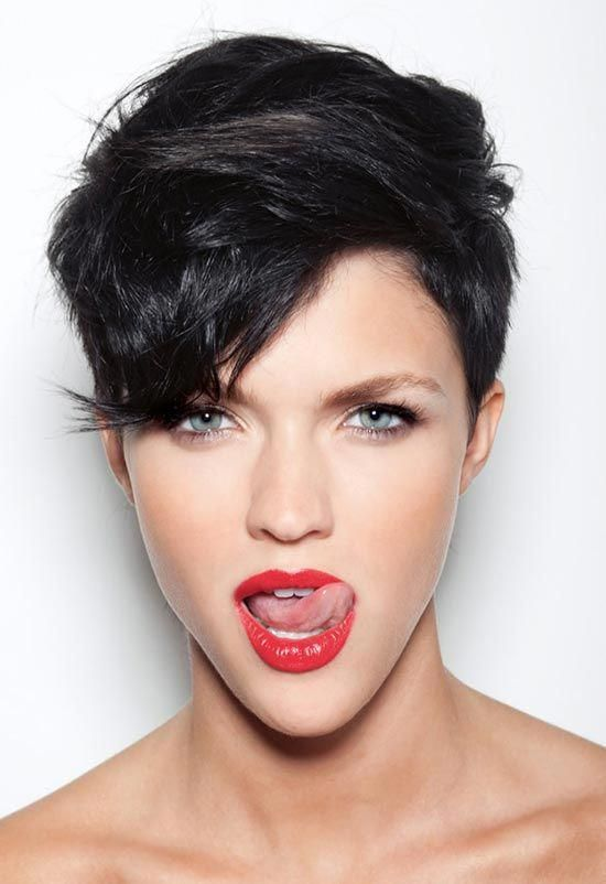 Ruby Rose long Pixie Hair #Longpixie