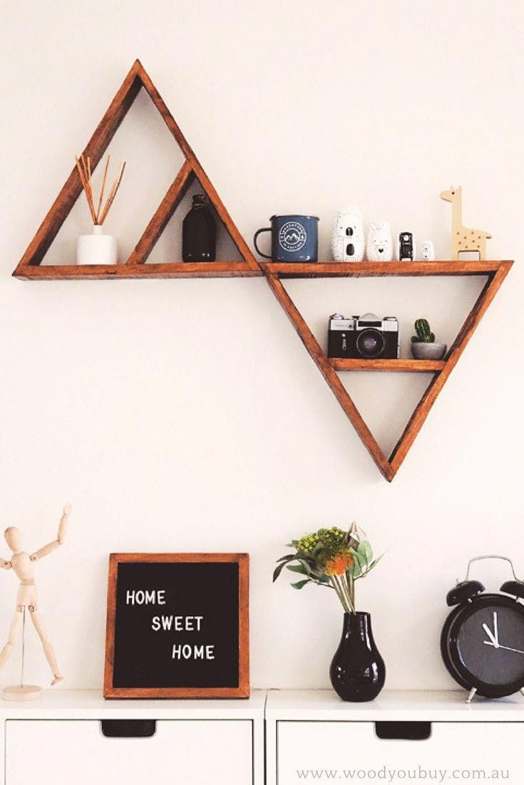 Rustic Triangle Shelves For Your Home Decor Rustic Triangle Shelves Shelf With Images Handmade Home Decor Reclaimed Wood Shelves Decor