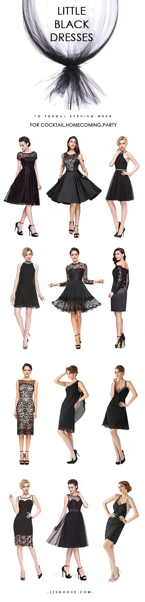 Little Black Dresses to formal evening wear. For Cocktail,Homecoming,Party  #littleblackdress
